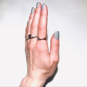 • the nothing is impossible silver twist ring